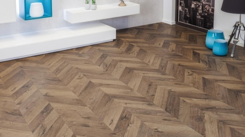 JE477428 Laminate 8mm V4 Oak fortress ashford (dark) από €15,90 μόνο €11,40/m2!